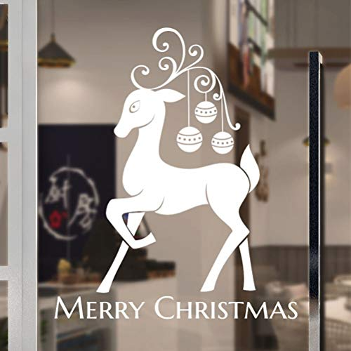 Wandtattoo Wohnzimmer Christmas Decoration For Home White Elk Snowman Snowflake Hat Home Decor for living room bedroom -