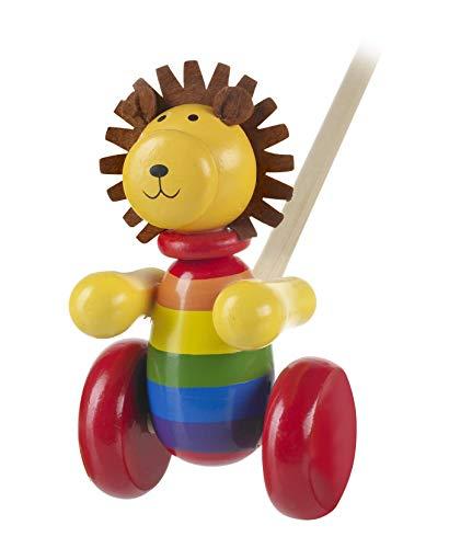 Jouet en bois - Lion à pousser