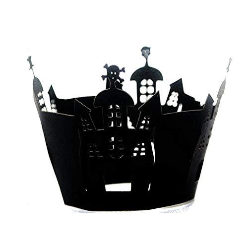 Sel-More 12Cupcake Wrappers Spinnennetz Pappbecher Backförmchen Muffin Fall Tabletts für Hochzeit Halloween Party Geburtstag Dekoration As Shown 3 12pc