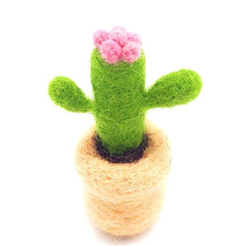 YSZ Filz-Kit Filzwolle Sukkulenten Pflanzen Pure Wolle DIY Rohmaterial Paket Spaß Spiel mit Kindern / Eltern (Kaktus)
