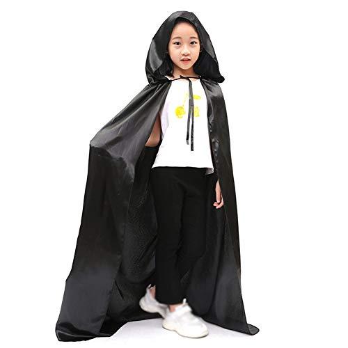 mhänge Mäntel für Jugendliche und Erwachsene Make-up Party Kostüm Schwarz Größe-M 150 cm ()