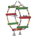 LA VIE Parrot Bird Toy Wooden Rope Cave Aviary Ladder Swings Bells 8