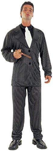 Fyasa 700252 Schwarzes Gangster-Kostüm für 12 Jahre, Mehrfarbig, Größe ()