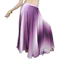 YuanDian Profesional Espectáculo Degradado De Color Danza del Vientre Swing Larga Falda Actuaciones Falda Belly Dance Vestuario