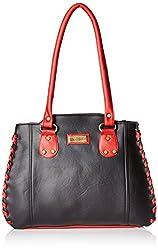 Fantosy Women's Handbag (Black and Red) (FNB-285)