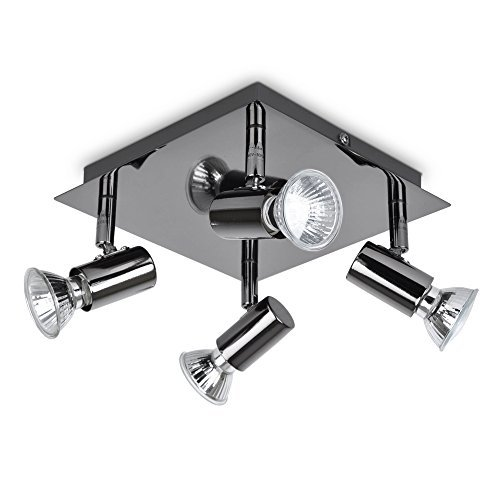Modern-Square-4-Way-GU10-Ceiling-Spotlight