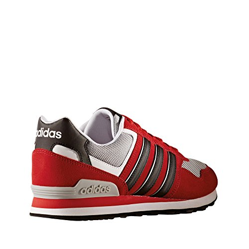 Adidas neo - 10k, Scarpe da ginnastica Uomo Rosso (Escarl/Negbas/Plamat)