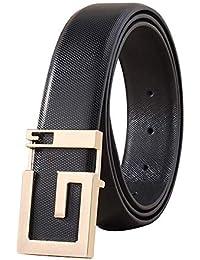 Cinturón De Hombre Cinturones De Hebilla De G De Marca De Lujo para Mujer  Cuero De fd4ff808e6bf