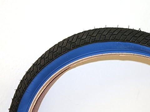 'Lucky Stone Curio LS214Fahrrad Reifen 20x 2.125, Reifen für Wand-Rampe Und Straße) schwarz blau Garn