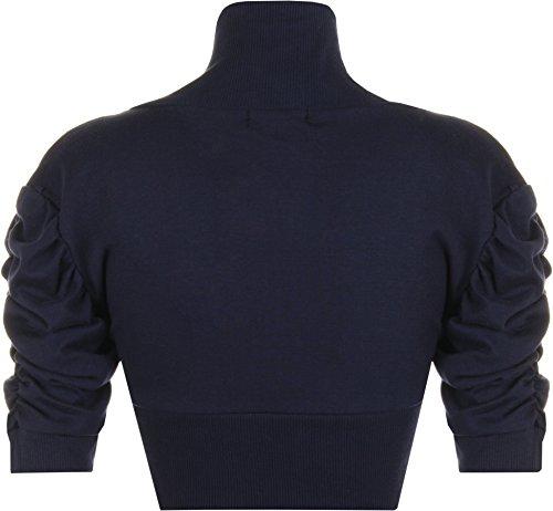 PaperMoon–Bolero da donna, a maniche corte,14colori,taglia 42–48 Marineblau