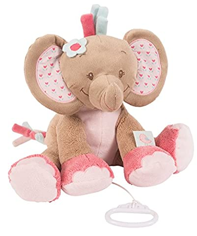 Bebe Elephant - Nattou Charlotte & Rose Musical 655040, Rose