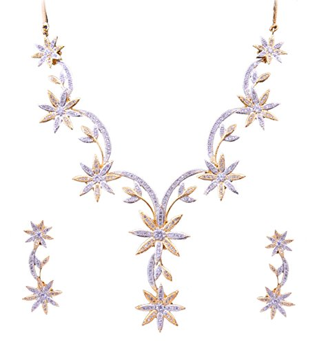 Sitashi Imitation/Fashion Jewellery Valentine Collection American Diamond, CZ Necklace Set for Girls