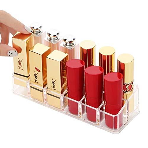 Maquillage Stockage Boîte À Cosmétiques 12 Compartiment Rouge À Lèvres Bijoux Titulaire Étui Support Présentoir Support Brillant À Lèvres Organisateur