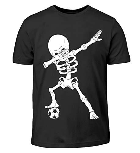 (Hochwertiges Kinder T-Shirt - Dabbing Skelett mit Fussball Dab Gerippe Tanz Geschenk)