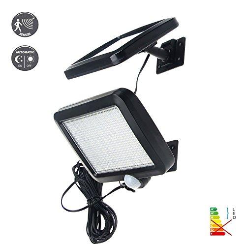 56-LED-Ultrahelle-Solares-Leuchte-mit-Bewegungsmelder-Kabel-165ft