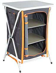 Ultrasport Campingschrank - Universal Faltschrank, 3 Fächer + Arbeitsfläche inkl. Aufbewahrungstasche