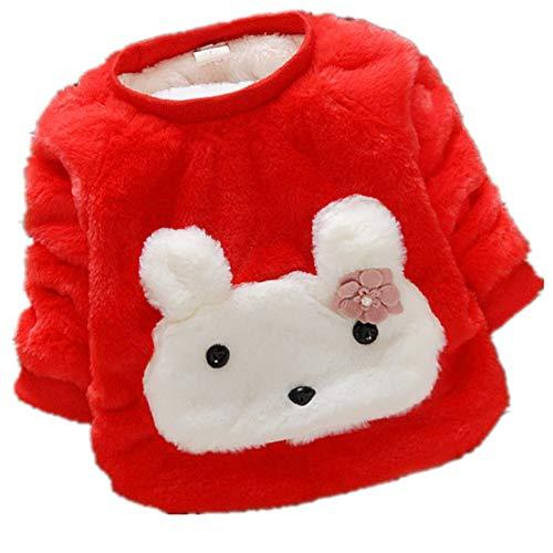 Hongyuangl Kinder Winter Pullover Kleidung, Baby Junge Mädchen warme Fleece Sweatshirt Mantel Jumpers