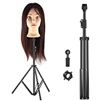 Neewer Metal Adjustable Tripod Stand Holder for Hairdressing Training Head and Mannequin Head, 30-49 inches/77-125centimeters (Bag Not included)
