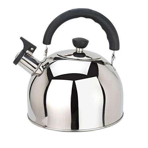 Bouilloire 304 en Acier Inoxydable De Cuisine Teakettle Sifflet Grande Capacité Cuisinière À Induction Poêle À Gaz Universel MUMUJIN (Capacity : 6L)