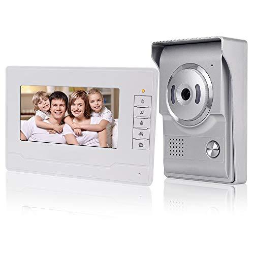 KDL 2019 Nuovo Design Videocitofono interno casa Smart Home Video Citofono  7inch Video citofono campanello Telefono, Impermeabile Telecamera esterna