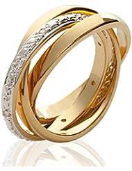ISADY - Tilia Gold - Bague femme - Plaqué Or 750/000 (18 carats) - Oxyde de Zirconium