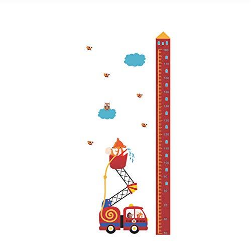 Tiere Feuer Rettungswagen Höhe Maßnahme Wandaufkleber Für Kinderzimmer Wachstum Chart Hause Tür Decor PVC Wandbild Wandkunst Aufkleber 145x65 cm