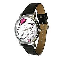 Une excellente montre-bracelet de qualité avec un motif qui plaira aux amateurs de vin. Caractéristiques:Matériau du bracelet:Cuir véritable.Couleur du bracelet:noir.Diamètre:38 mm (3,8 cm).Profondeur:9 mm (0,9 cm).Longueur du bracelet:25,5cm ...