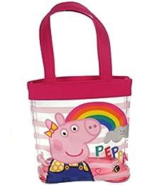 Peppa Pig PVC Tote Bolsa de tela y playa, 21 cm, Rosa (Pink)