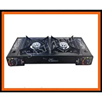 PORTABLE DOUBLE/TWIN GAS CAMPING FISHING COOKER STOVE