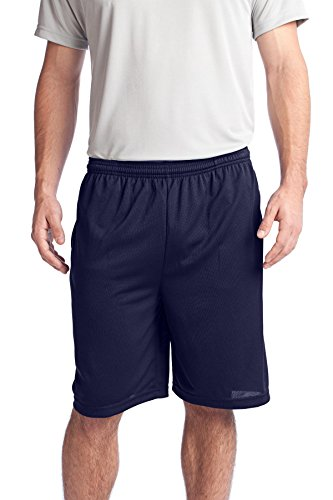 True Navy Bekleidung (Sport-Tek® PosiCharge® Tough Mesh Pocket Short. ST312 True Navy 3XL)