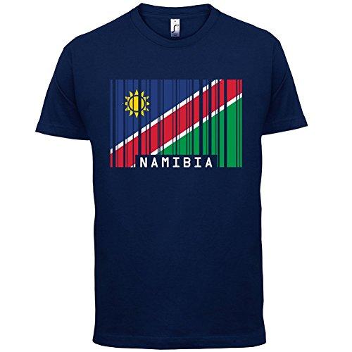 Namibia/Republik Namibia Barcode Flagge - Herren T-Shirt - Navy - M