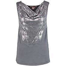 Anna Field Damentop - Elegantes Jerseyshirt - Blusenshirt mit Kurzarm - Top  mit Wasserfallausschnitt - Ärmellose b9f70228c9