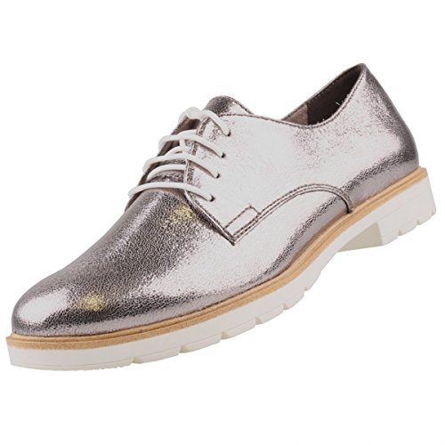 Tamaris Damen Schnürschuhe Silber, Schuhgröße:EUR 39