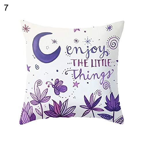 Danigrefinb lila Stil Baum Buchstaben gedruckt Taille Überwurf Dekorative Kissenbezüge Kissenbezüge für Zuhause Sofa Auto Dekoration 7#