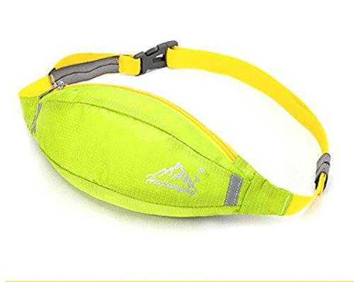 ZYT Outdoor extrem leichten Sport Pocket Multifunktions Taschen im freien Klettern Taschen Süßigkeiten Taschen Green