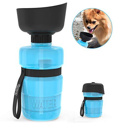 DADYPET Trinkflasche für Hunde, Hundeflasche, Hundetrinkflasche mit Trinkschale, auslaufsicher, wasserdicht, Outdoor, 520ml