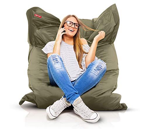 Roomox XXL Sitzsack Original - Gigantischer Sitzsack für drinnen und draußen 160 x 120 x 30 cm...
