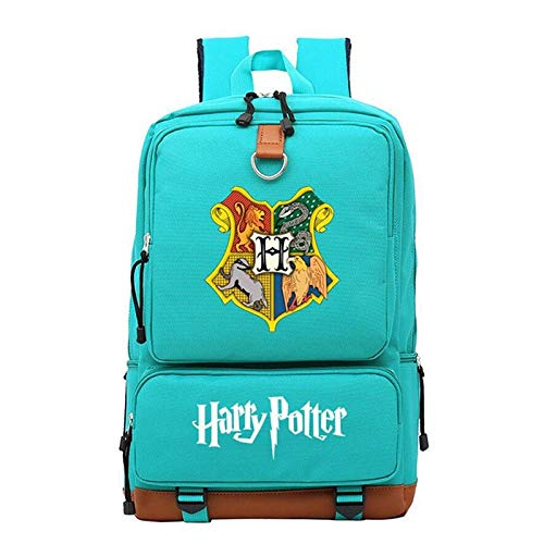 JRSJ (TLMT) Mochila Harry Potter Mochila Casual Bolso Bandolera for niños, Hombres y Mujeres Bolso de Viaje de la Bolsa de Estudiante de poliéster for la Escuela Bolsa de Viaje (Color : Green)