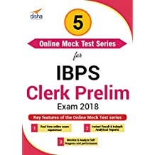 Disha Publication 5 Online Mock Test Series for IBPS Clerk Prelim Exam 2018 (Email Delivery in 2 Hours - No CD)