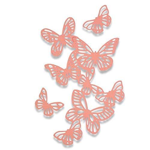 Sizzix 662516 Fustella Thinlits-Farfalle di Sophie Guilar, Acciaio, 26 x 13 x 0.2 cm