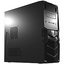 Mars Gaming MC016 - Caja de ordenador para gaming, con ventilador 8 cm (micro ATX, VHA hasta 250 mm, USB 2.0/3.0, audio HD, micrófono), negro
