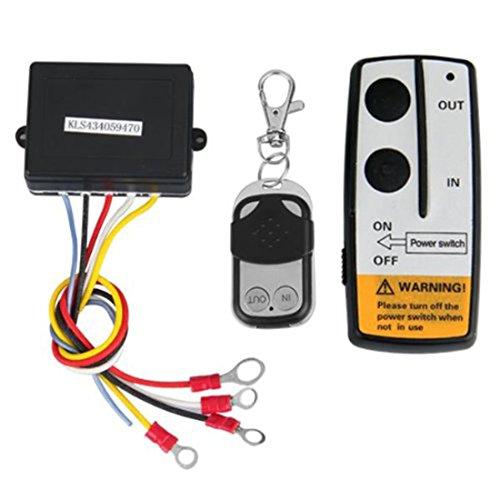 Lot de 2Kit Treuil Télécommande sans fil pour camion Jeep ATV SUV voiture 12V sans fil 50m