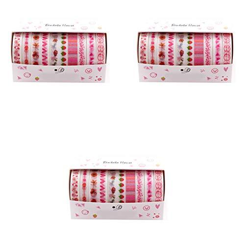 st-Serie Masking Klebeband Dekoband Papierband Aufkleber Papier Dekorative Bunten DIY Sticker Handkonto Washi Tape Scrapbooking DIY Kunst und Handwerk Raumdekoration Geschenk ()