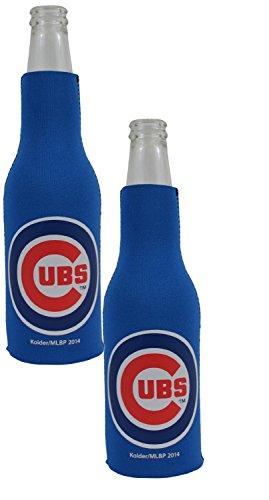 Irish Chicago Flagge (Offizielle Major League Baseball Fan Shop Authentic MLB 2er Pack Isolierte Flasche Kühler Bundle. Show Team Pride Geschlossen, zu Hause, Oder auf Das Spiel, Chicago Cubs)