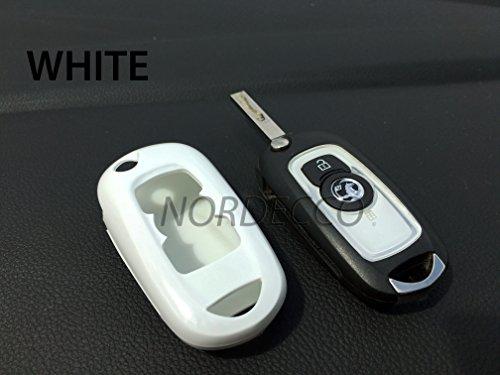 Hohe Qualität ABS-Hartschale Case Schlüsselanhänger Displayschutzfolie Cover Opel Vauxhall Mark 7Astra Design Elite Tech Line Energie Sri 20162017(weiß) Protex Design