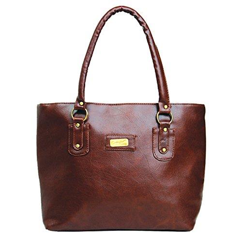 DK Women\'s Handbag (Tan,42x32x10 cm)