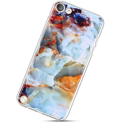 Urhause Gemalt Silikon Handyhülle Kompatibel mit iPod Touch 5, Marmor Flexible TPU Silikon Hülle Protective Durchsichtig Case Clear Schutzhülle Transparent TPU Bumper Case Cover,#12