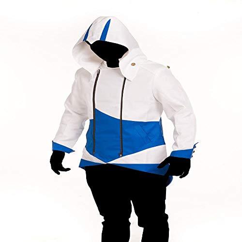 Lydia's Anime Cosplay Kleidung Assassin's Creed Cosplay Kostüm Jacke Anzug Strumpfhose 3D Digitaldruck Enge Weihnachten Halloween Kostüm Für Erwachsene/Kinder Tragen E-Kid-S (S Anzug Assassin Creed)