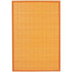 Ridder 79513040-350 Beach - Alfombra de baño de madera (60 x 90 cm, 100 % bambú), color naranja