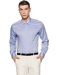 Peter England Men's Plain Regular Fit Formal Shirt